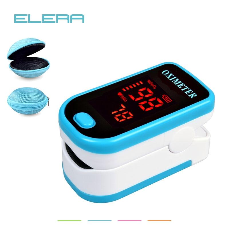 elera 4pcs  lot led fingertip pulse oximeter with case