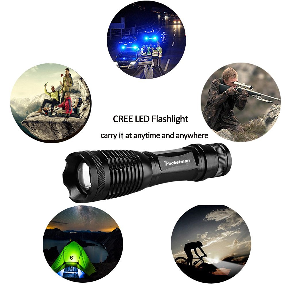 lanterna led zoomable t6 led Torch : Linternas