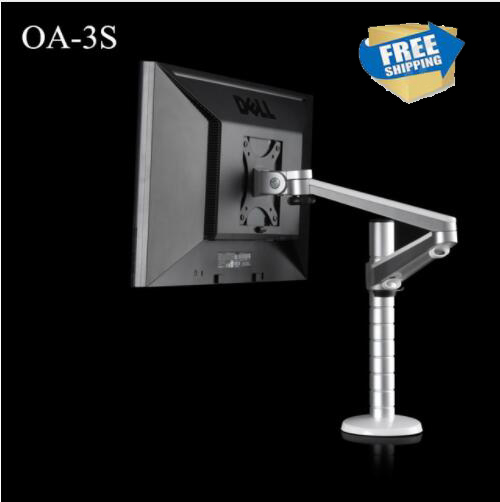Free shipping OA-3S Height Adjustable within 27 inch LCD LED Monitor Holder 360 Degree Rotatable Computer Monitor Stand oa 7x lazy tablet laptop stand adjustable height rotatable holder for notebook within 10 15 inch and tablet pc 7 10 inch