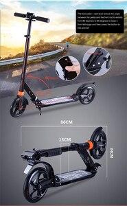 Image 4 - I bambini di età kick scooter pieghevole DELLUNITÀ di elaborazione di 2 ruote bodybuilding tutto in alluminio assorbimento degli urti urbana campus di trasporto