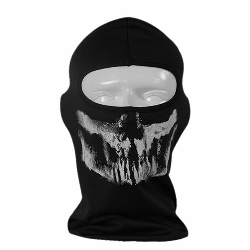 6a2dc6708fc3 Unisexe Plein Masque Halloween Crâne Squelette Extérieur Moto Vélo Multi  Fonction Chapeaux Chapeau Foulard Demi Masque