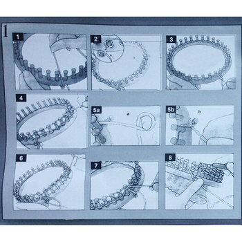 4 Â�イズのカラフルなニット織機セット編機ラウンドサークル帽子編み機ウール糸針フック縫製ツール帽子スカーフ