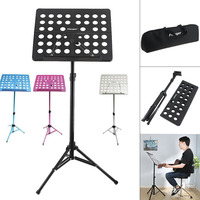 Flanger Lightweight Folding Music Stand ABS Sheet Aluminum Alloy Tripod Stand Holder Height Adjustable with Soft Cotton Bag