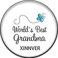 10 unids/lote Relojes mujeres mundo Mejor abuela de Cristal botón a presión para la bohemia Femenina pulsera de plata Regalo de la joyería DIY de La Vendimia ZB230