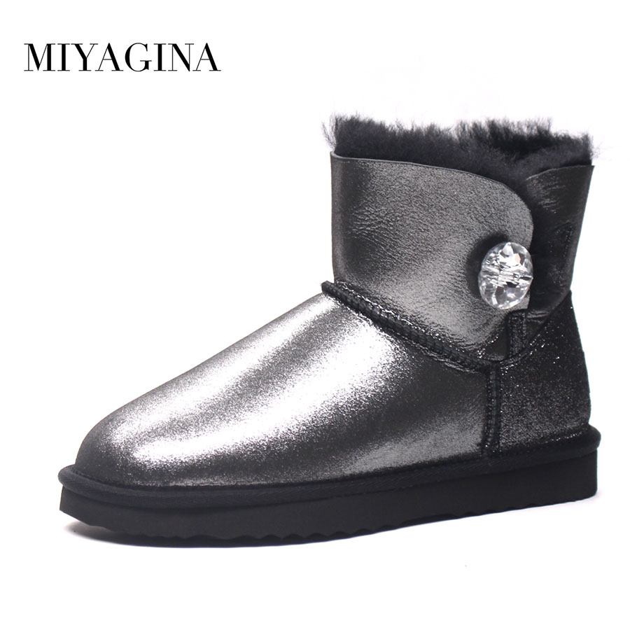 100% Natural Fur Women Boots Winter Warm Shoes Genuine Sheepskin Snow Boots Warm Wool Women Ankle Boots 2016 australia genuine sheepskin leather women snow boots 100% natural fur winter boots warm wool ankle boots