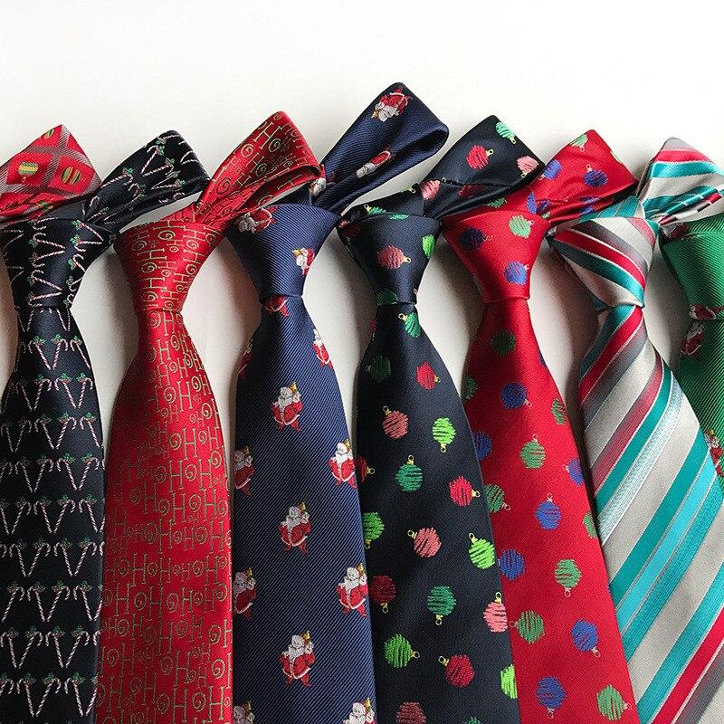 CityRaider 2018 Corbatas New Novelty Christmas Print Neckties Gravata 8cm Silk Slim Ties For Men Party Tie Gravata Gift A136