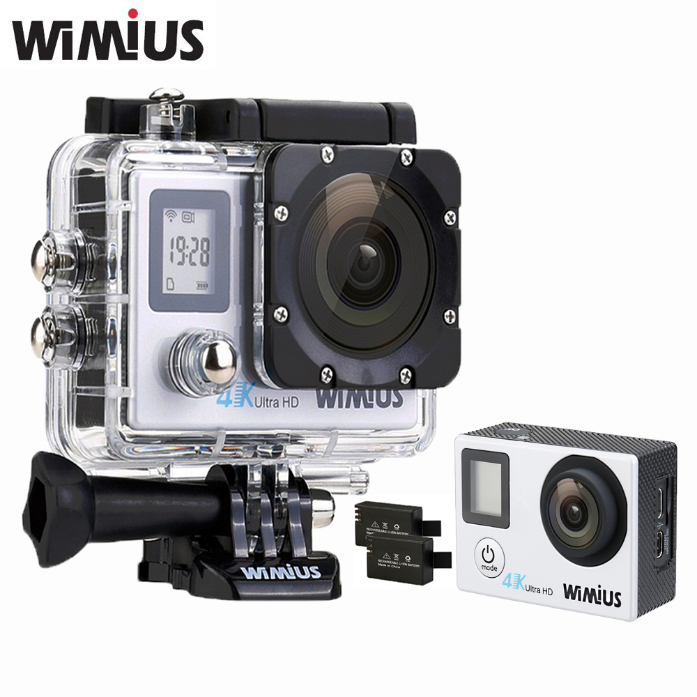 WiMiUS 4K 30fps WiFi Sports Action Camera Ultra HD 1080P 60fps Mini Video Go Waterproof 40M pro Video Car DVR Helmet Accessories original eken action camera eken h9r h9 ultra hd 4k wifi remote control sports video camcorder dvr dv go waterproof pro camera