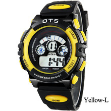 O.T.S Fashion Candy Colors Childrens' Water Resistant Stopwatches montre enfant Brand Digital Silicone Kids Gifts Wristwatches
