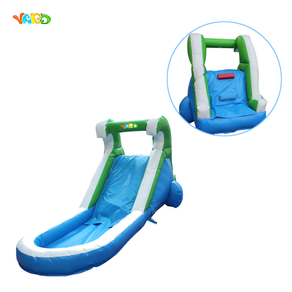 Mini Lovely Inflatable Single Water Slide with Pool for Little Kids
