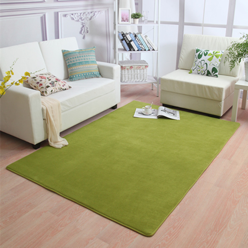 LIU 14 couleurs corail velours grand tapis chambre boutique salon table de chevet moderne rectangulaire maison tapis doux canapé tatami tapis - 3
