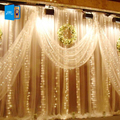 [DBF]300 LED Home Outdoor Holiday light 3Mx3M Christmas Decorative Wedding xmas string light Fairy Curtain Garlands Strip Lights