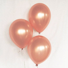 Natural latex Giant 18inch Rose Gold Latex Balloon for Party balloons 5pcs