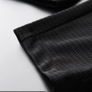 Image 5 - Minglu الجوف خارج النسيج حريري تنفس الرجال السراويل جديد الصيف رقيقة سلم أسود مريح الرجال السراويل حجم كبير م XL 2XL 3XL 4XL