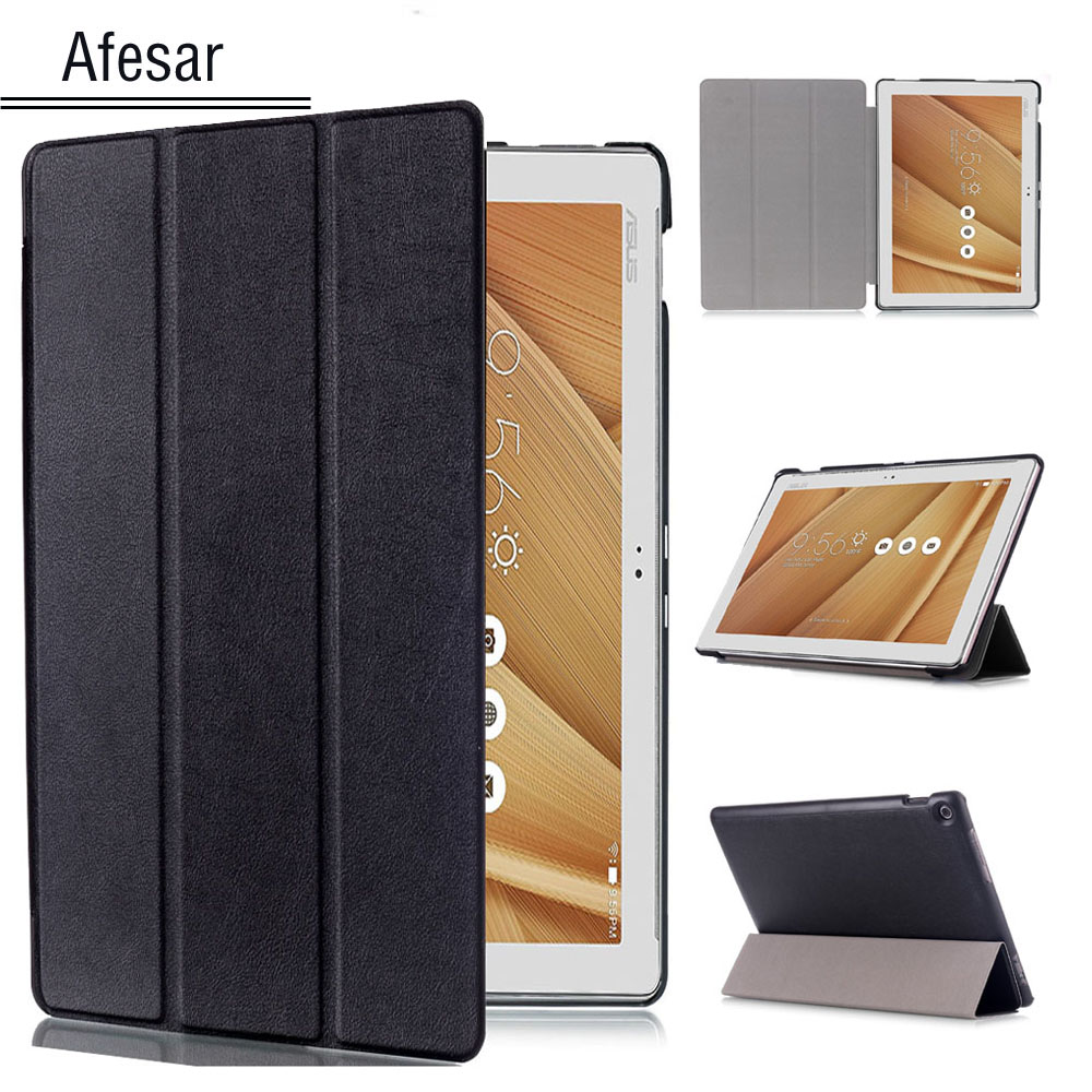 все цены на Z300 Z301 Ultra Slim leather book Cover for ASUS ZenPad 10 10.1-inch P023 P01T P021 Tablet magnetic flip folio stand smart Case онлайн