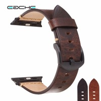 EACHE High Quality Italy Oil Wax Genuine Leather Watch Band Replacement Watchband For I Watch Apple