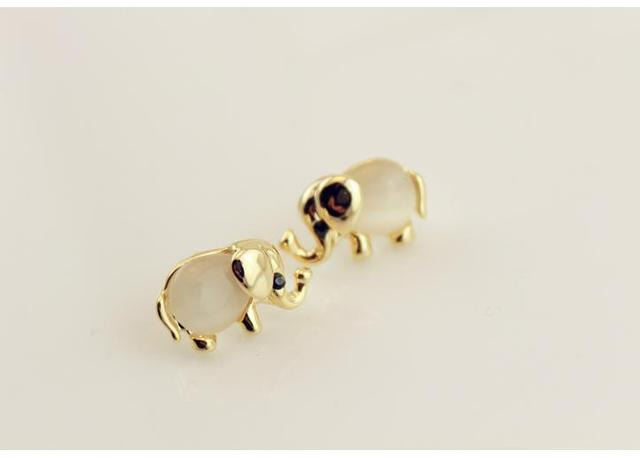 Latest Arrival Fashionable Jewelry Earrings Lovely Gold Elephant Trend