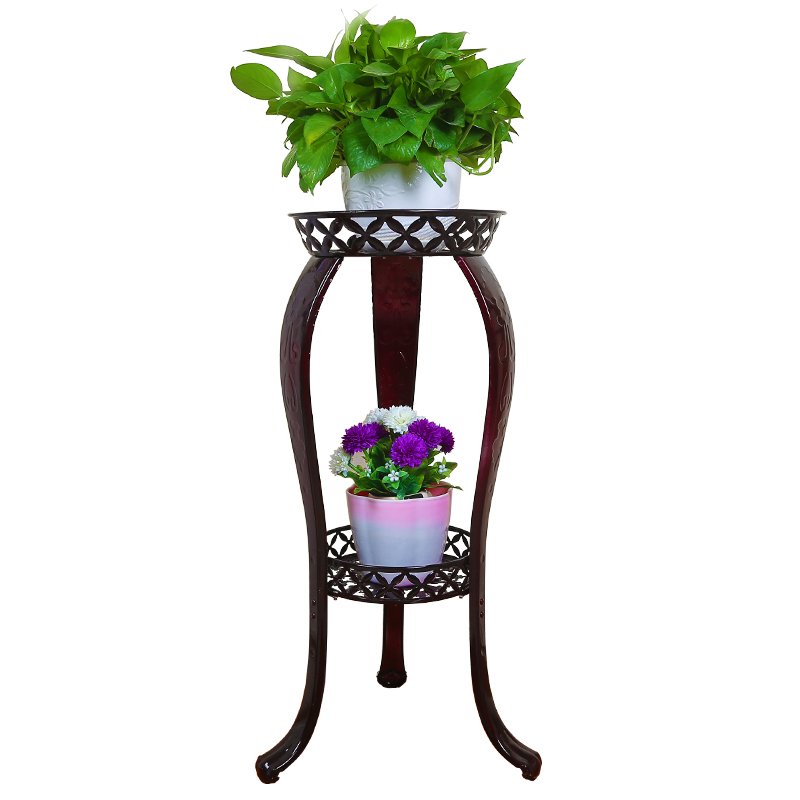 outdoor garden multifunctional modern European style iron indoor green flower shelf decoration flowerpot rack shelves european standard 25ft home garden flexible natural latex water pipe green