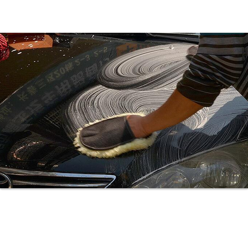 NEW HOT Car Brush Cleaner Wool Soft Car Washing Gloves for Skoda Octavia 2 A7 A5 Rapid Fabia Superb Yeti Mazda Honda Toyota