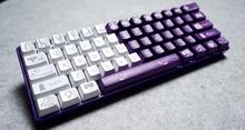 61 pbt лазерной 61 колпачки белый фиолетовый для DIY Игры Механическая клавиатура