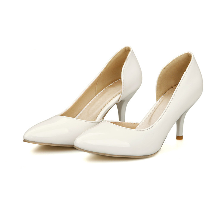 Wedding Shoes Special Offer Medium(b,m) Adhesive New 2017 Pointed Toe Ol Women Pumps Genuine Patent High Shoes Size 34-51 668 наружный блок hyundai h almo1 16h2 ui145 o