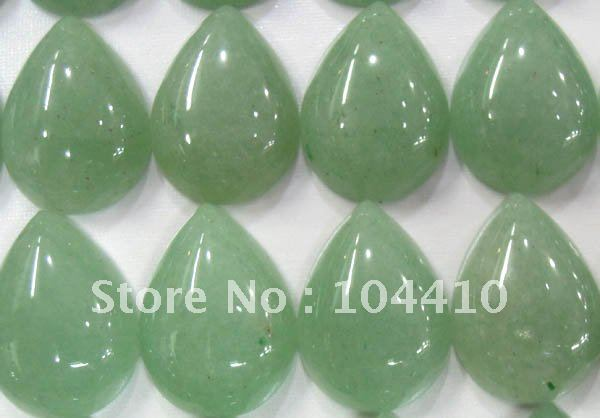 Beautiful unique green aventurine teardrop pendant bead Vk1327