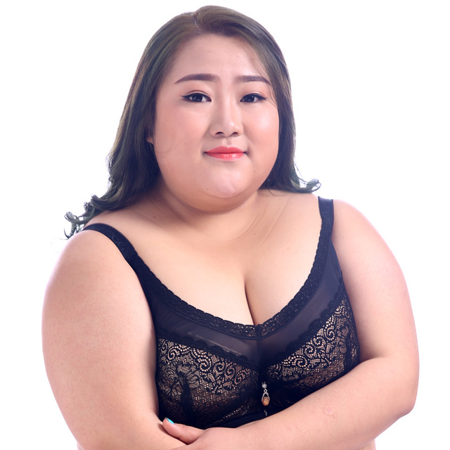 c91a741300df6 Plus OverSize Bras Big Breast Lace Full Thin Cup Push Up Tube Bras 70 34 80  85 90 42 44 105 B C D E F G H I J Free Shipping