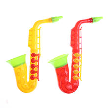 Aprendizagem plástica instrumento musical saxofone crianças do bebê de plástico instrumento musical educação precoce brinquedos 21cm