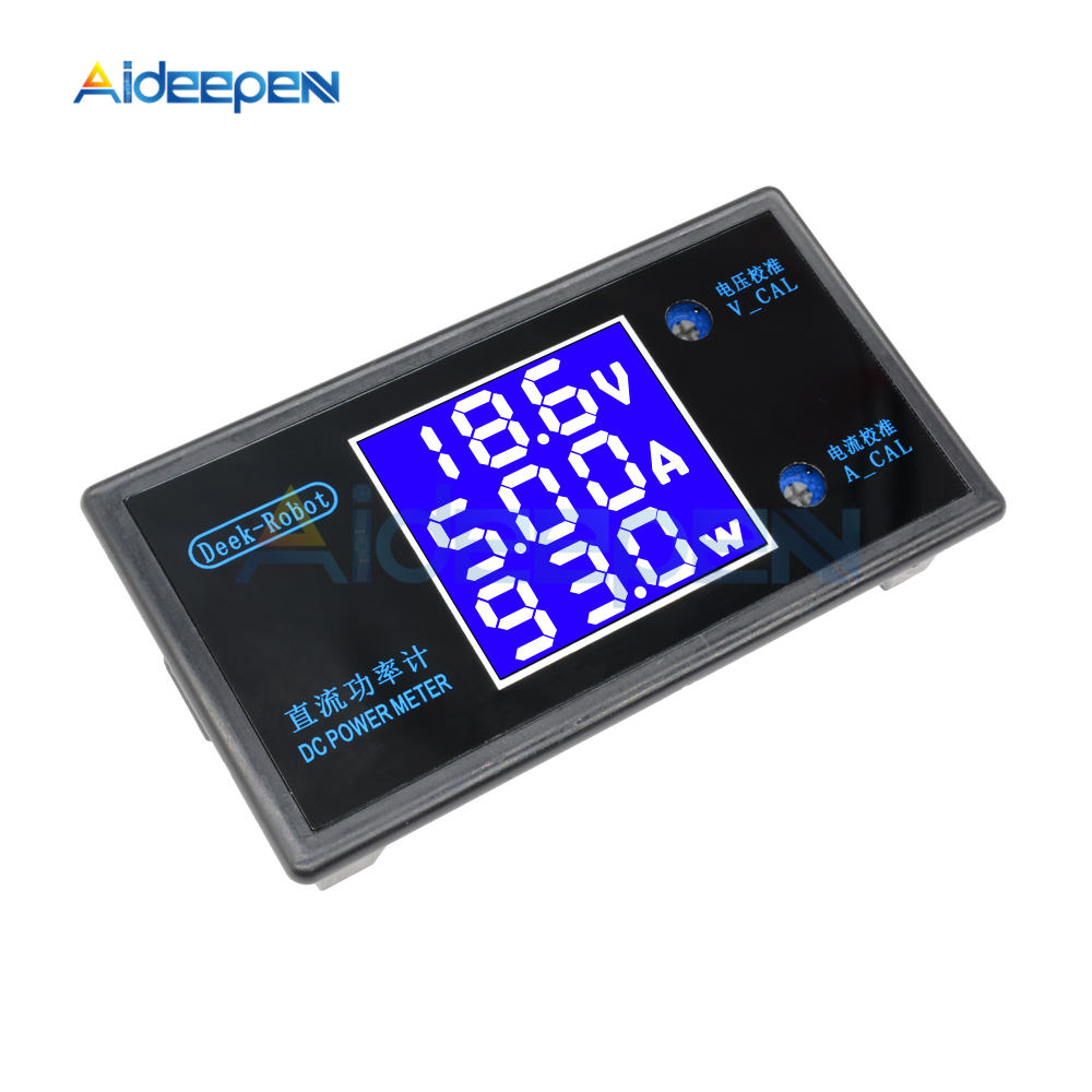 DC 0-100V 0-50V 5A 10A LCD Digital Voltmeter Ammeter Wattmeter Voltage Current Power Meter Volt Detector Tester 250W 1000W 30