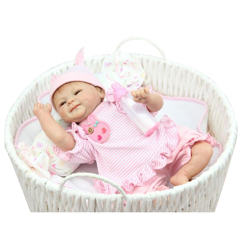 17 Reborn Dolls Realistic Soft Silicone Newborns Doll Handmade Vinyl Baby Girls Doll Princess Toys for Children Playmate Gifts 23 real baby dolls handmade full silicone reborn doll alive soft vinyl baby princess dolls toys for girls children kid gifts