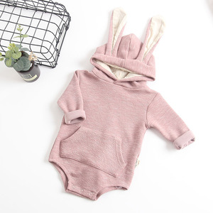 Image 2 - MILANCEL New Baby Clothing Rabbit Baby Bodysuits Bunny Ear Infant Outfit Cotton Boys Bodysuit Long Sleeve Baby Clothes