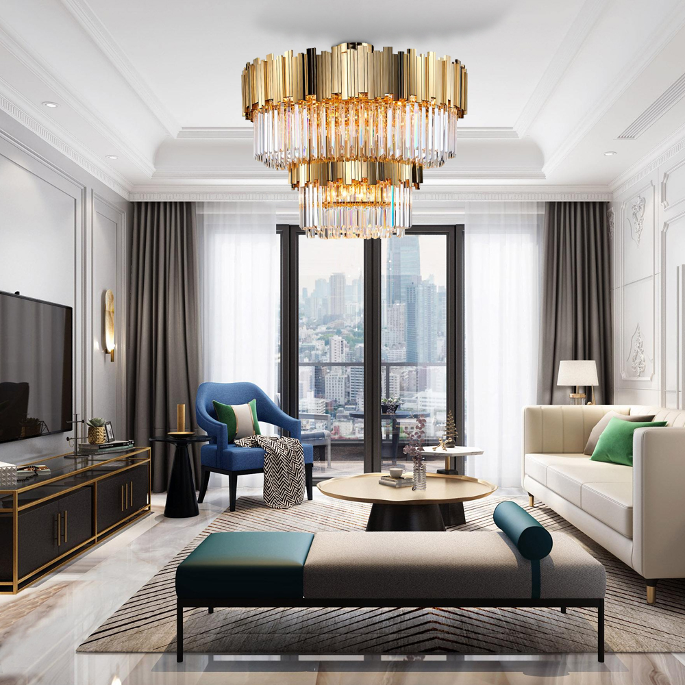Luxury Ceiling Chandelier Lighting Crystal Lamp 1