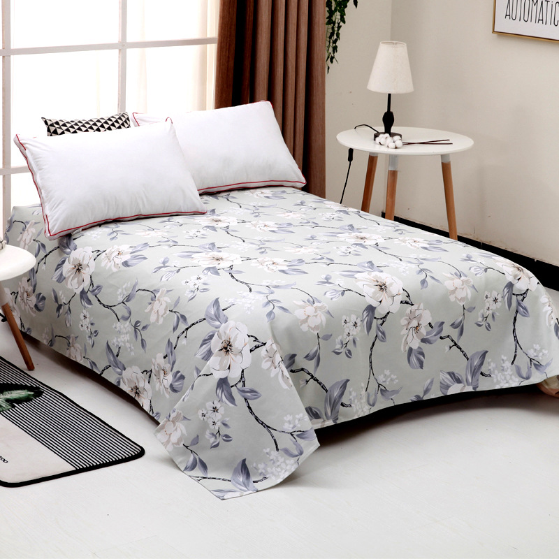 New Comfortable home Cotton bed sheets printed City Double bed sheets 240cm*230cm Ventilation bedsheet