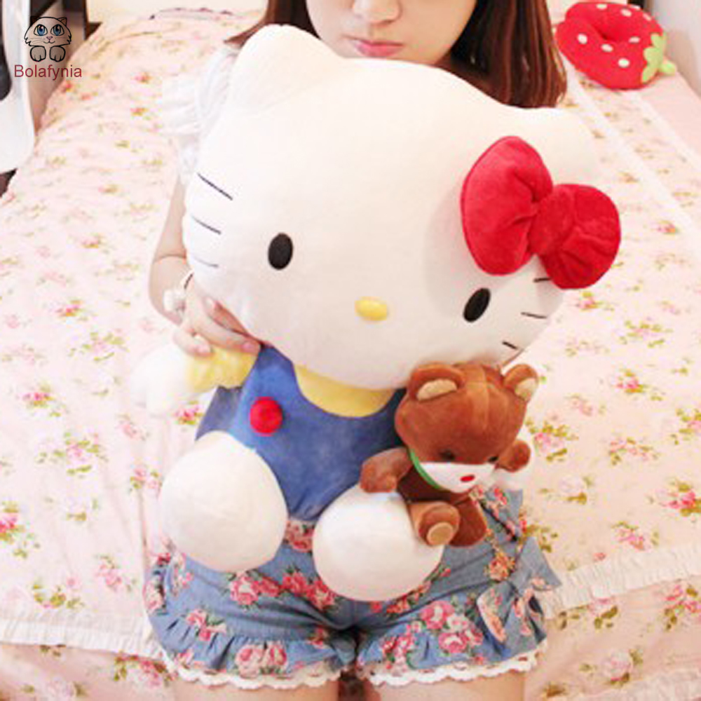 BOLAFYNIA Children Stuffed Toy birthday gift doll plush toys hello kitty sitting length 38cm таро триада богинь руководство и карты