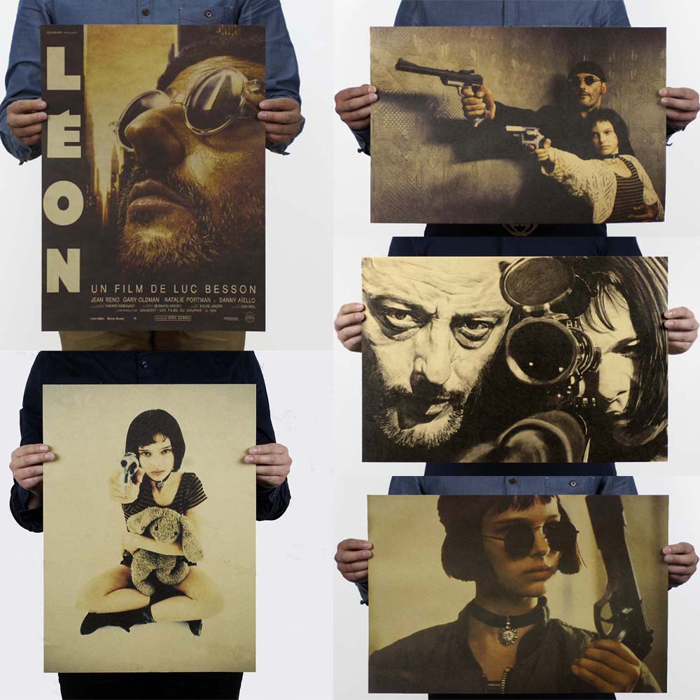 LAITANG Wall Stickers Leon The Professional Vintage Movie Poster Retro Poster Wall Decoracion Pared Home Decor LAITANG Wall Stickers Leon The Professional Vintage Movie Poster Retro Poster Wall Decoracion Pared Home Decor Decoration
