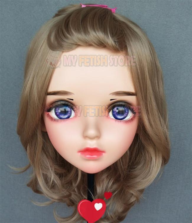 lolita máscara boneca crossdress máscara