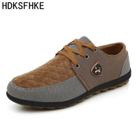 2016 Mens Casual Shoes Mens Canvas Flats Leather Shoes Brand Mens Fashion Suede Shoes For Men