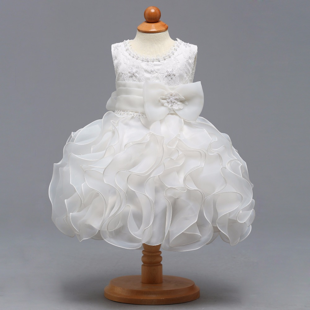 New Arrival White Organza Scoop Real Photo Ball Gown   Flower     Girl     Dresses   2018 de Primera Comunion