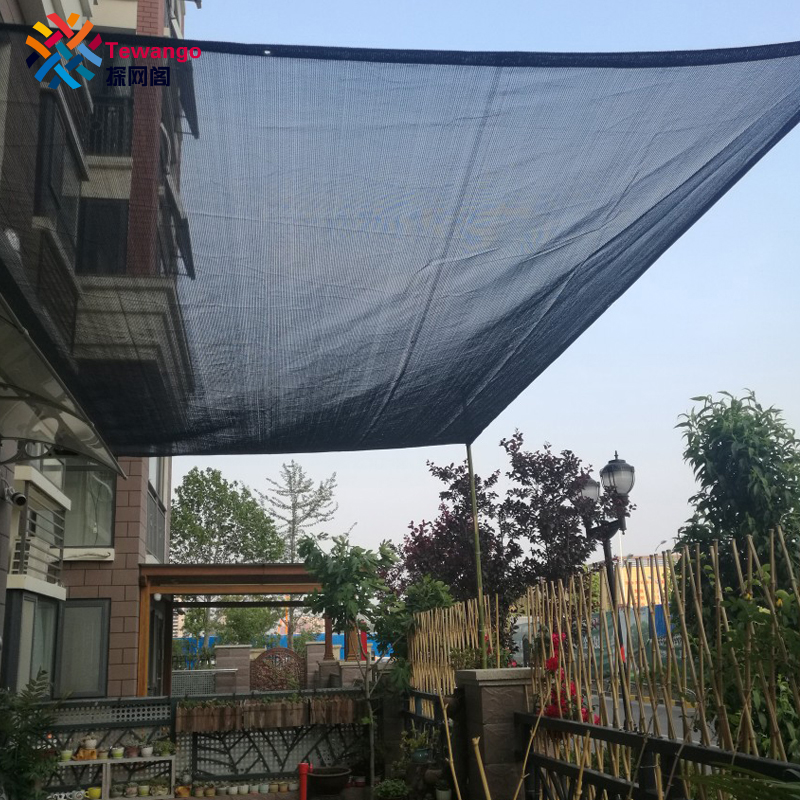 Teo Brand Hdpe Uv Mesh Outdoor Shade Sails Patio Garden Cover Block 70 Rate Black Succulent Plants Net In Nets From Home