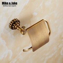 Bathroom antique brass paper holder coper paper shelf rack toilet roll holder black wall paper basket hanger