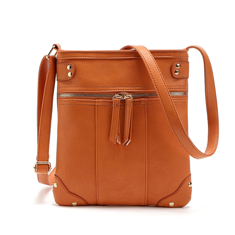 2017 Fashion Designer Women Messenger Bags PU Leather Small Crossbody  Shoulder Bags Women Black Bolsos Casual Bag Dollar Price-in Shoulder Bags  from Luggage ... 3d4a400079f07