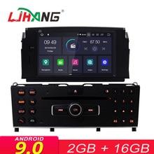 LJHANG 1 Din Android 9,0 Автомобильный DVD плеер для Mercedes Benz C200 C180 W204 2007-2010 мультимедиа вайфай Автомобиль Радио стереосистема с GPS и навигацией
