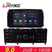 LJHANG 1 Din Android 9,0 автомобильный мультимедийный плеер для Mercedes Benz C200 C180 W204 2007-2010 WI-FI Авторадио стереосистема с GPS и навигацией