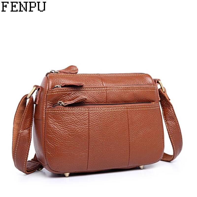 Sales Promotion!2018 Russia Female Genuine Leather Bag Shoulder Bag Women  Messenger Bags Handbags Women Famous Brand Tote Bolsas 2b7d7c7f22f25