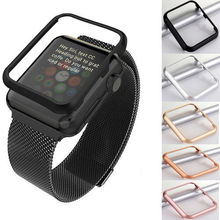 Replacement Aluminum Metal Frame Holder Case Cover Shell Metal Frame Bezel For For Apple Iwatch 38mm or 42mm Smart Watch Band