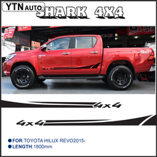 2 PC hilux shank 4x4 side stripe graphic Vinyl sticker for TOYOTA HILUX decals with KK SIGN VINYLS free shipping 4 pc hilux side stripe graphic vinyl sticker for toyota hilux decals