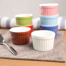 Ceramic Creative Small Baking Bowl Porcelain Food Container Fruits Dessert Bowl Lovely Pudding Bowl Oven Mold Dishwasher Bowl
