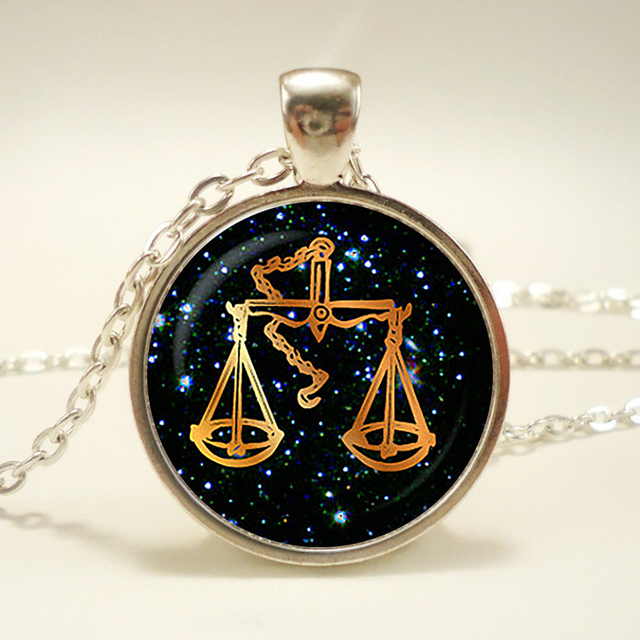 Libra black glass zodiac pendant libra necklace charm libra libra black glass zodiac pendant libra necklace charm libra jewelry birthday gift mozeypictures Gallery