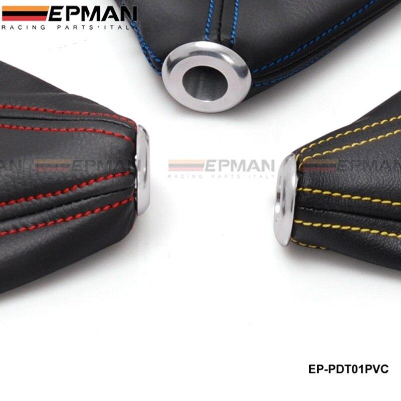 Jdm Универсальный черный ПВХ зерна ручка переключения загрузки крышка сшивание(Цвет: синий, красный, желтый) для VW GOLF GTI MK3 EP-PDT01PVC