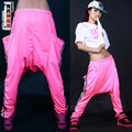 New fashion Jazz harem women hip hop sweatpants female dance loose strip costume trousers personality large pocket casual pants