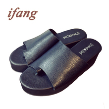 ifang 2016 Women Wedges Flip Flops Women's Sandals Summer Beach Top Brand Flip Flops Women Sweet Summer Shoes